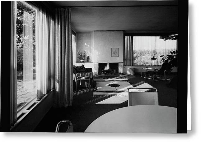 Living Room In Mr. And Mrs. Walter Gropius' House Greeting Card by Robert M. Damora