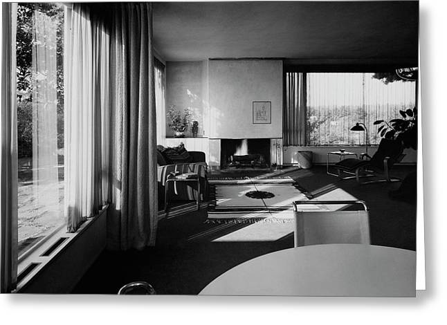 Living Room In Mr. And Mrs. Walter Gropius' House Greeting Card