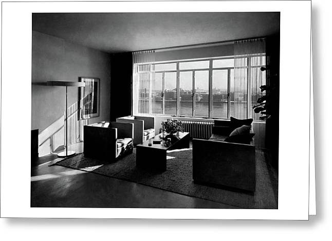 Living Room In The Ny Home Of Edward M. M Greeting Card