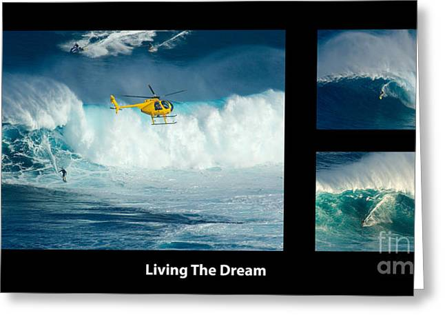 Living The Dream With Caption Greeting Card by Bob Christopher