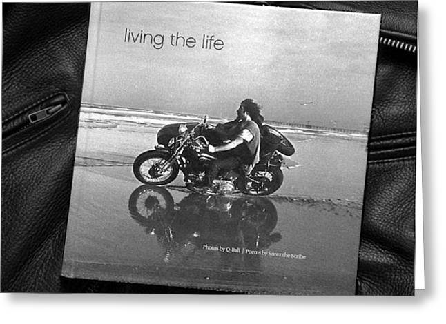 Living The Life The Book Greeting Card