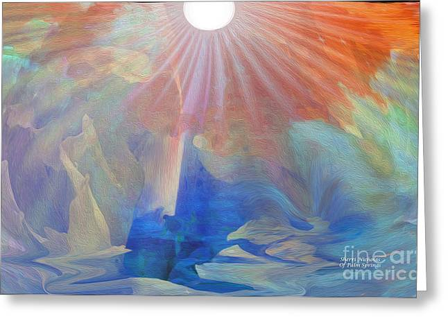Living Under The Umbrella Of Light Greeting Card by Sherri's Of Palm Springs