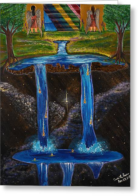 Living Water Greeting Card by Cassie Sears