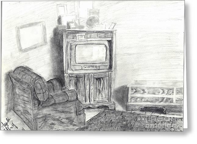 Livingroom Greeting Card by Angela Pelfrey