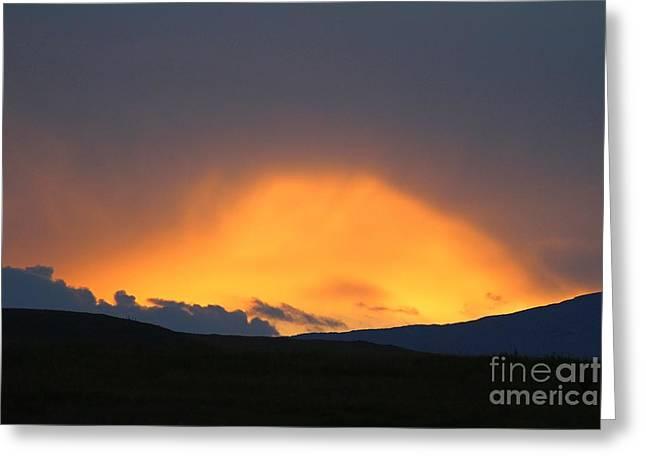 Livingstone Range Sunset Greeting Card