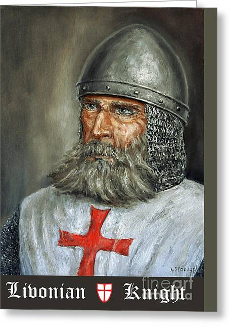 Knight Templar Greeting Card by Arturas Slapsys