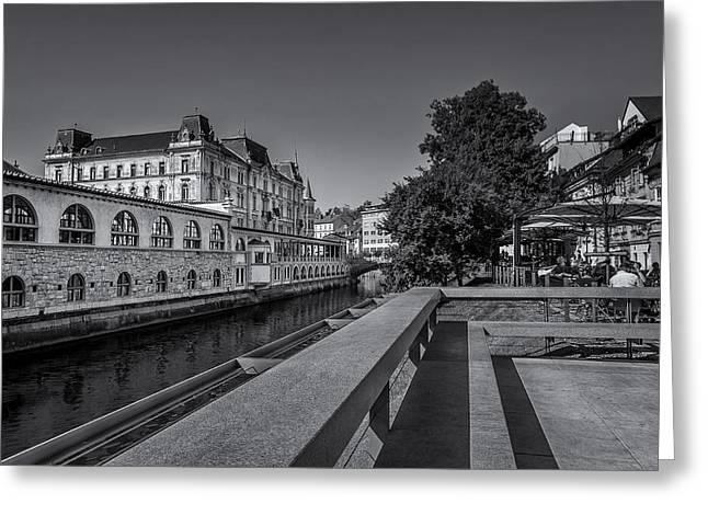 Ljubljana - Central Market Greeting Card