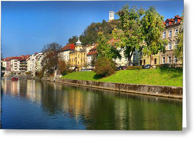 Ljubljanica Greeting Card
