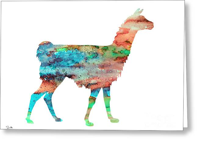 Llama Greeting Card by Watercolor Girl