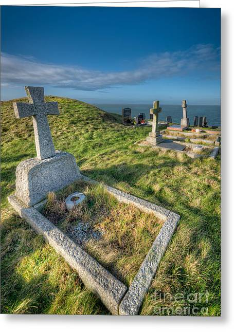 Llanbadrig Cemetery Greeting Card by Adrian Evans