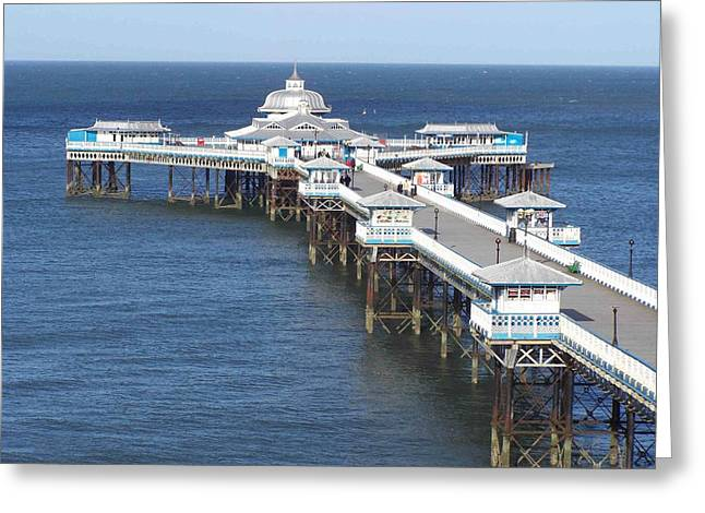 Greeting Card featuring the photograph Llandudno Pier by Christopher Rowlands
