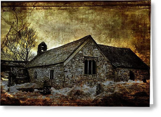 Llangelynnin Church Greeting Card by Mal Bray