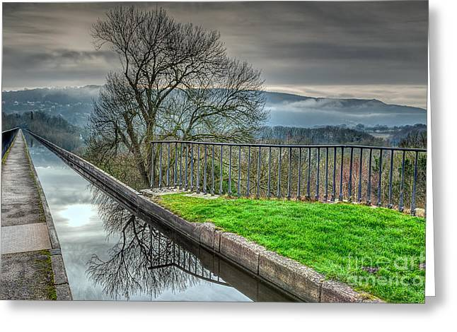 Llangollen Canal  Greeting Card by Adrian Evans
