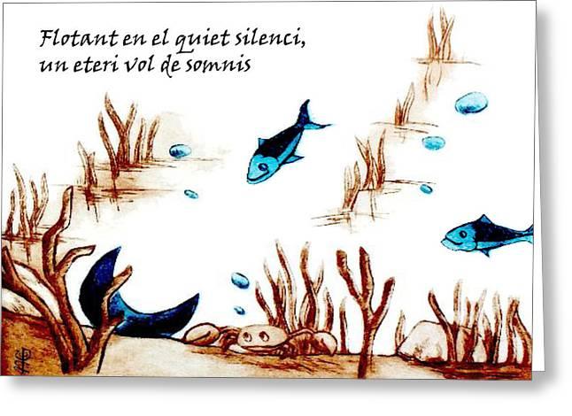 Llibre De Poesia En Llengua Catalana - Mabel Gual Greeting Card