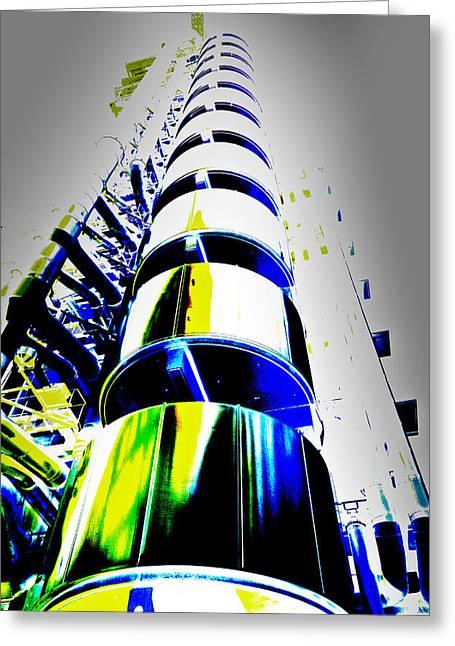 Lloyd's Building London Art Greeting Card by David Pyatt