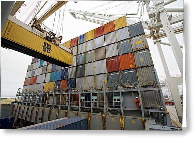 Loading Cargo Containers Greeting Card