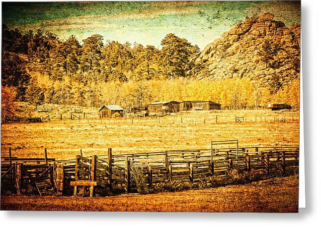Loading Chutes At The Old Ranch Greeting Card