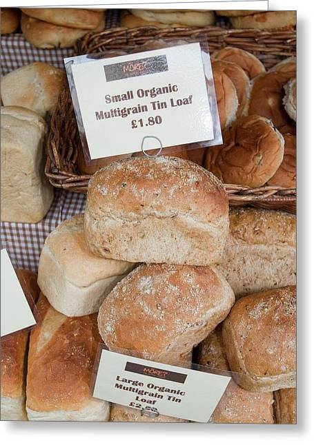 Loaves Of Organic Bread Greeting Card by Ashley Cooper