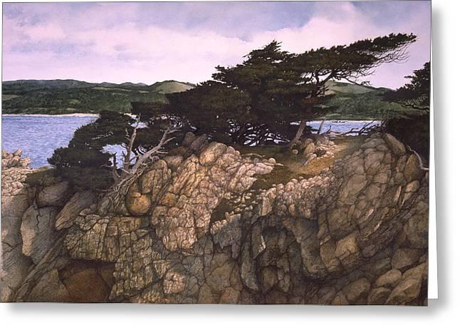 Lobos Lookout Greeting Card by Tom Wooldridge