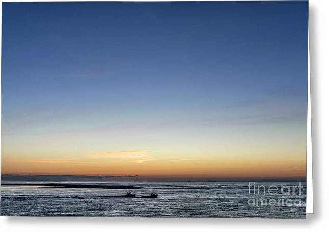 Lobster Boats Going Out Greeting Card