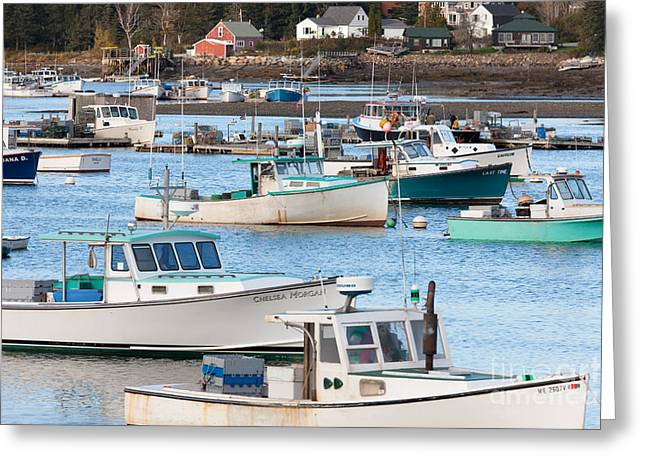 Lobster Boats In Bass Harbor I Greeting Card
