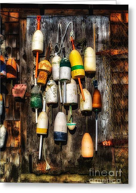 Lobster Buoys Greeting Card by Jerry Fornarotto