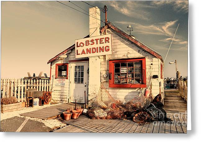 Lobster Landing Clinton Connecticut Greeting Card