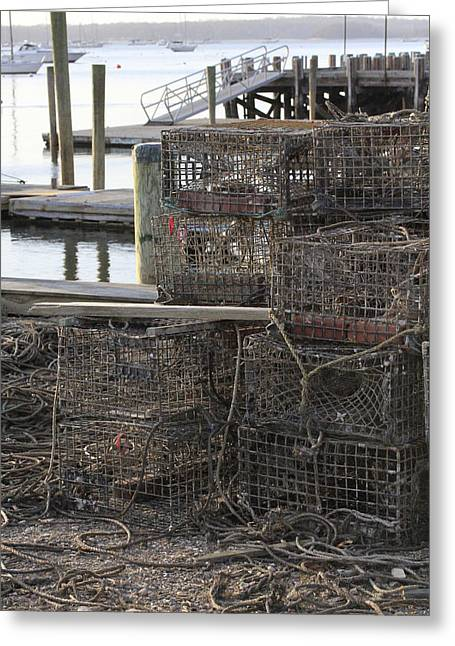 Lobster Pots Northport New York Greeting Card