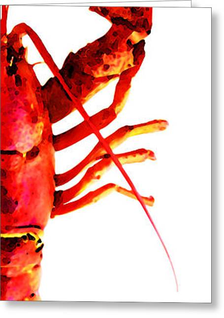 Lobster - The Right Side Greeting Card by Sharon Cummings