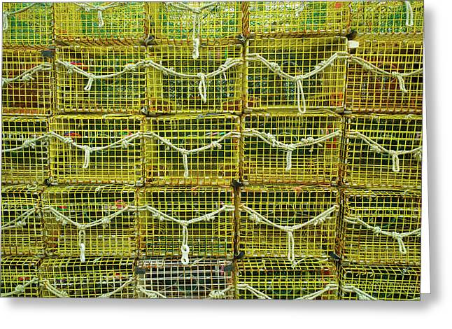 Lobster Traps, Rockport, Essex County Greeting Card by Panoramic Images