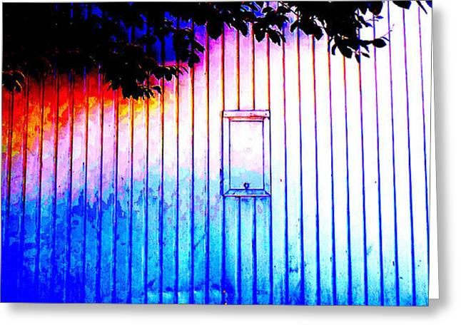 Location 54 North  A Shed Full Of Surprises Greeting Card by Sir Josef - Social Critic -  Maha Art