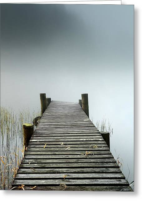Greeting Card featuring the photograph Loch Ard Jetty by Grant Glendinning