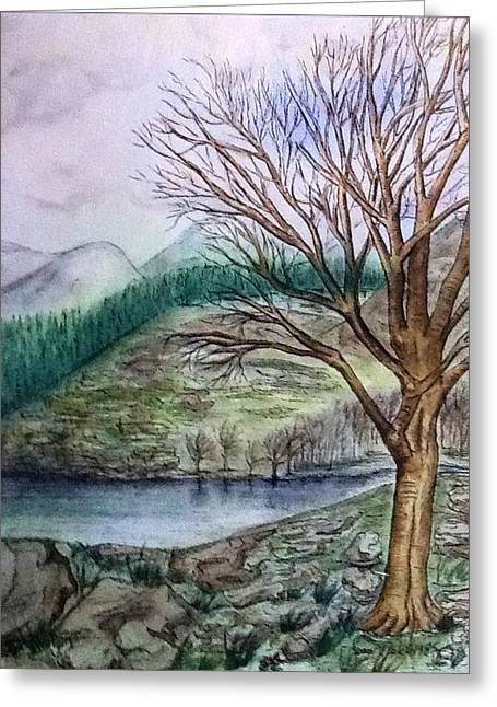 Loch Ard Stirling Overlooking Loch A'ghleannain Greeting Card