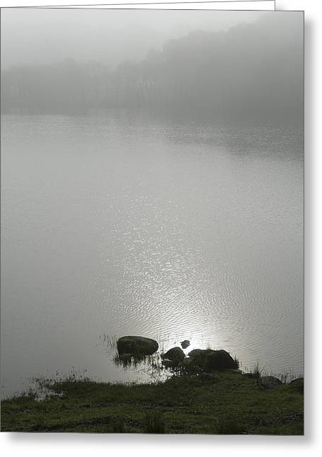 Loch Awe Misty Morning  Greeting Card by Gary Eason