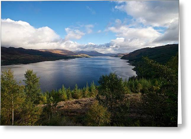 Greeting Card featuring the photograph Loch Carron by Stephen Taylor