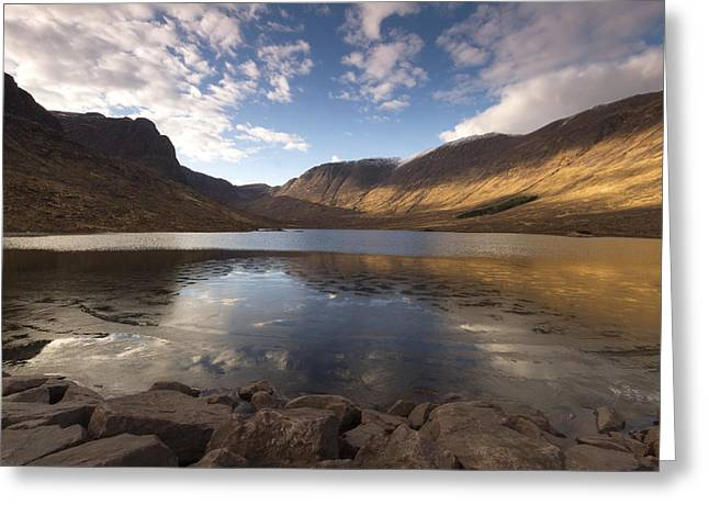Loch Coire Nan Arr Greeting Card by Karl Normington