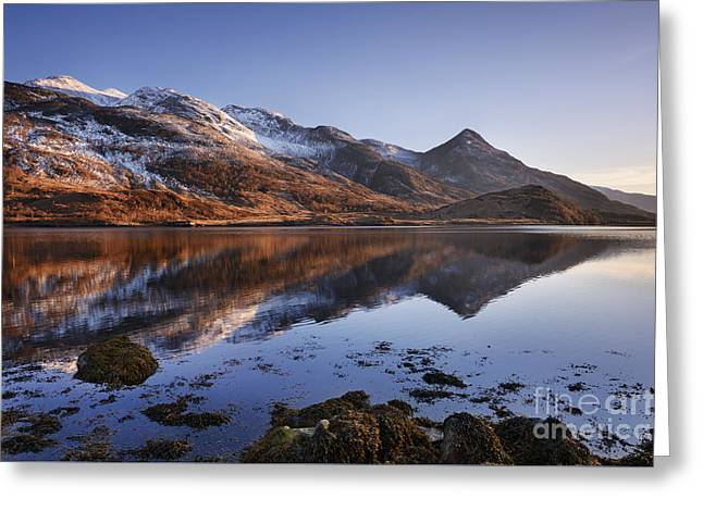 Loch Leven And The Pap Of Glencoe Greeting Card by Rod McLean