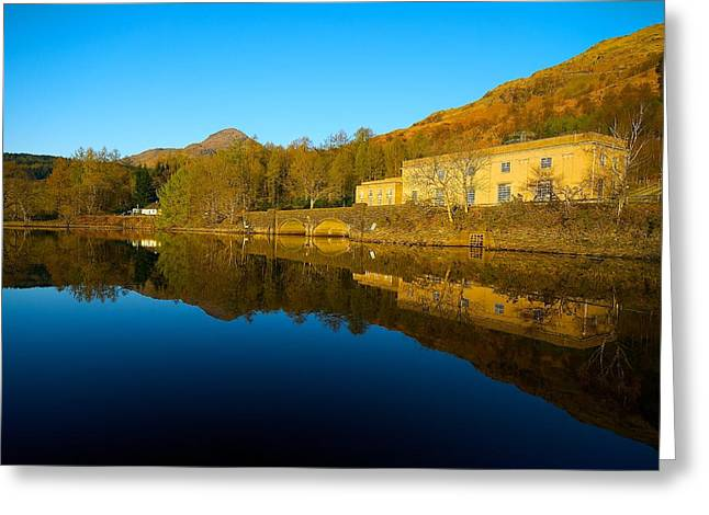 Greeting Card featuring the photograph Loch Lomond Power Station by Stephen Taylor