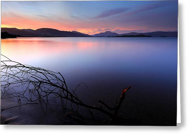 Greeting Card featuring the photograph Loch Lomond Sunset by Grant Glendinning