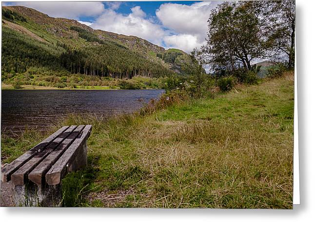 Greeting Card featuring the photograph Loch Lubnaig by Sergey Simanovsky
