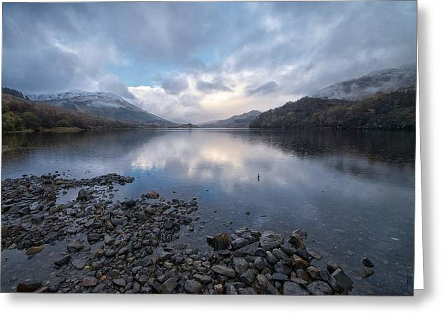 Greeting Card featuring the photograph Loch Lubnair by Stephen Taylor