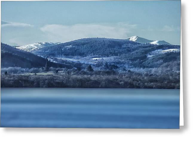 Loch Ness Winter Blues Greeting Card