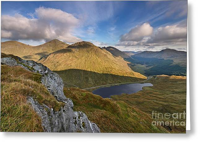 Loch Restil And The Rest And Be Thankful Greeting Card by Rod McLean