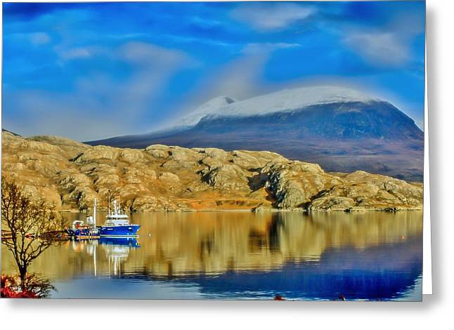 Loch Shieldaig In Assynt In The Scottish Highlands Greeting Card by Tylie Duff
