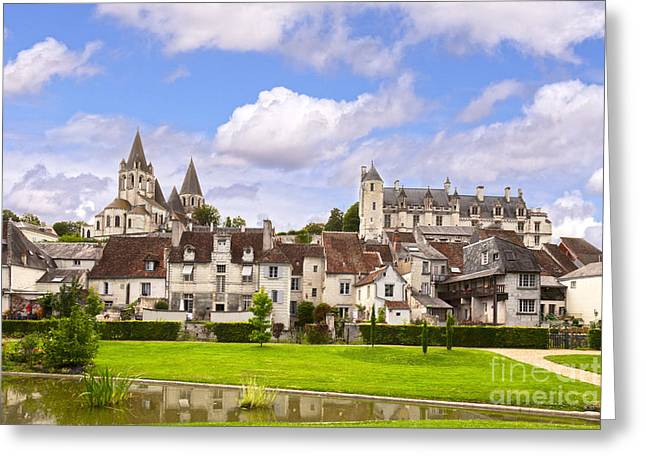 Loches Loire Valley France Greeting Card by Colin and Linda McKie