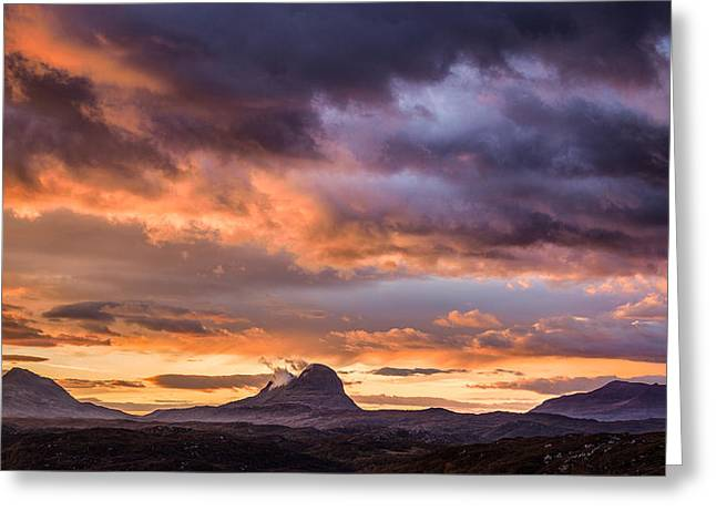 Lochinver Sunrise Greeting Card by Dave Bowman