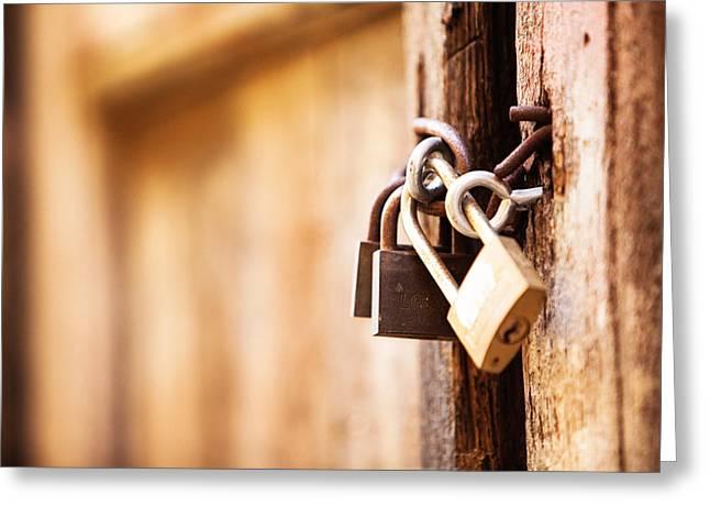 Lock Down Greeting Card