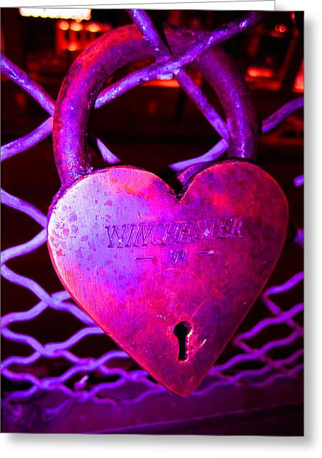 Lock Of Love In Pink Greeting Card by Kym Backland