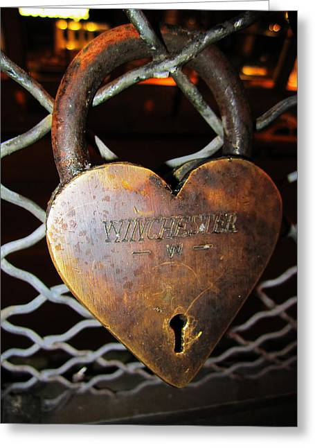 Lock Of Love Greeting Card by Kym Backland