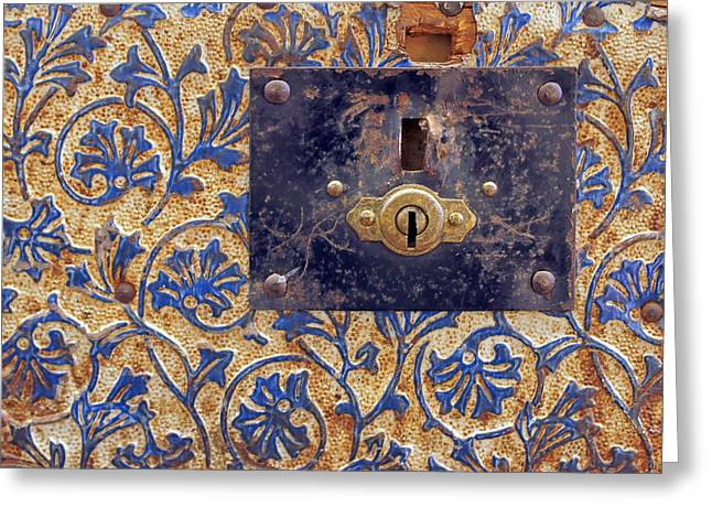 Lock - Vintage Trunk - Detail Greeting Card